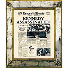 Buy Brookpace, The Versailles Collection - Kennedy Assassinated Framed Print, 55 x 45cm Online at johnlewis.com