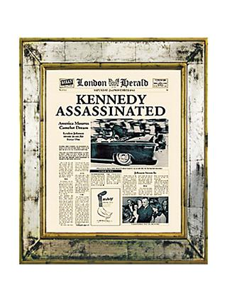 Brookpace, The Versailles Collection - Kennedy Assassinated Framed Print, 55 x 45cm