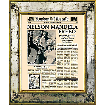 Brookpace, The Versailles Collection – Nelson Mandela Freed Framed Print, 55 x 45cm
