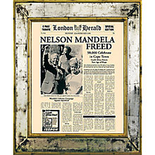 Buy Brookpace, The Versailles Collection - Nelson Mandela Freed Framed Print, 55 x 45cm Online at johnlewis.com