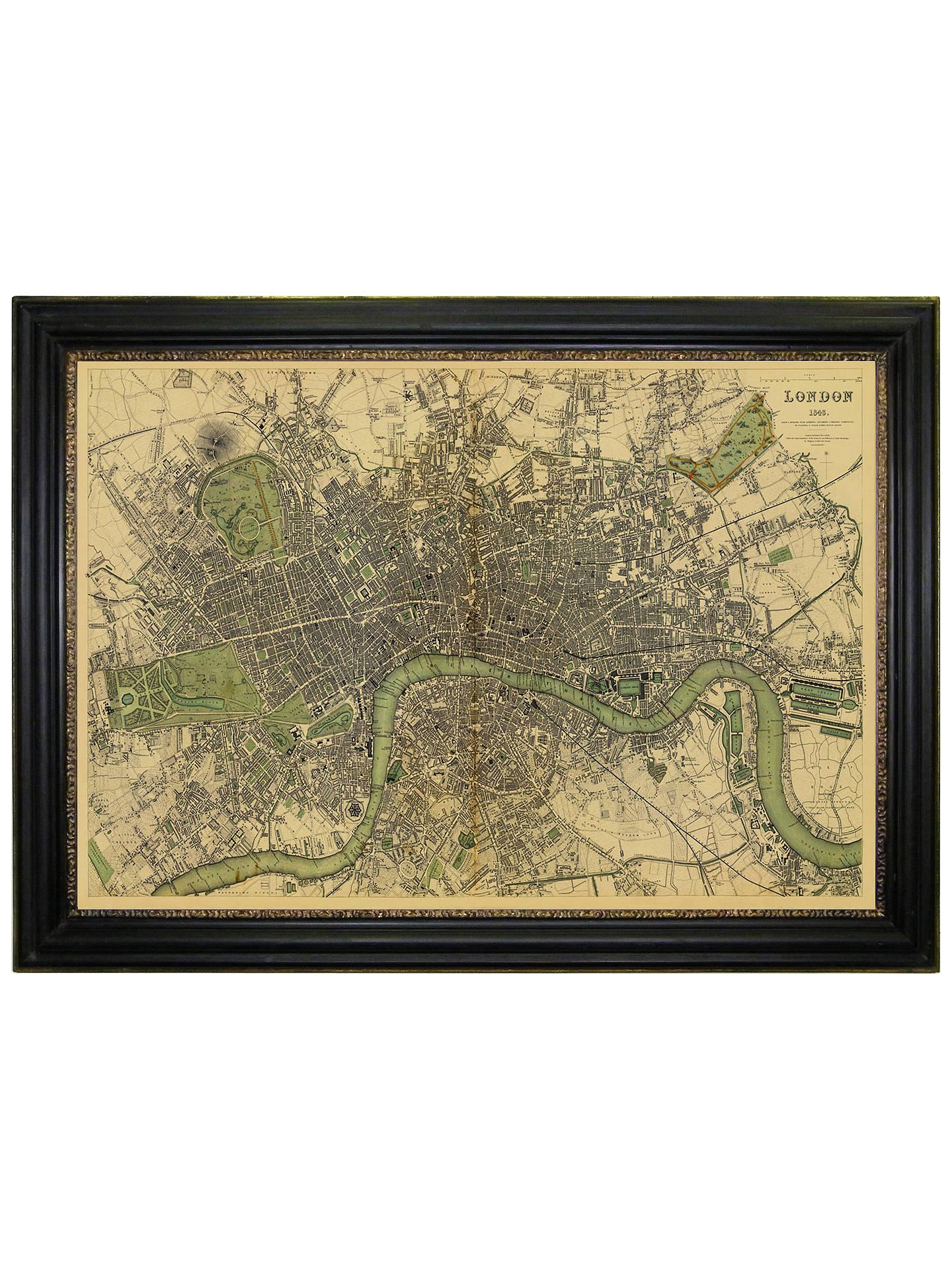 Brookpace Vintage Maps Collection London Framed Print 76 X 107cm