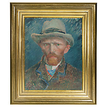 Buy Rijksmuseum, Vincent Van Gogh - Self Portrait Framed Print, 34 x 29cm Online at johnlewis.com