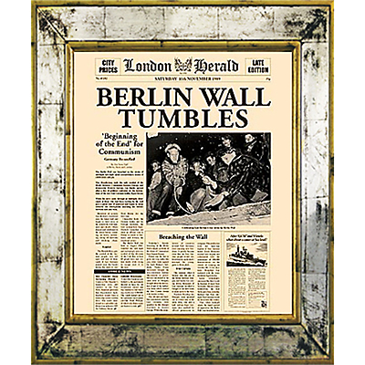 Brookpace, The Versailles Collection – Berlin Wall Tumbles Framed Print, 55 x 45cm