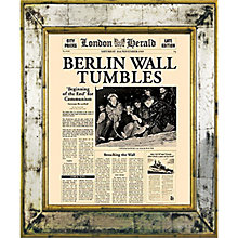 Buy Brookpace, The Versailles Collection - Berlin Wall Tumbles Framed Print, 55 x 45cm Online at johnlewis.com