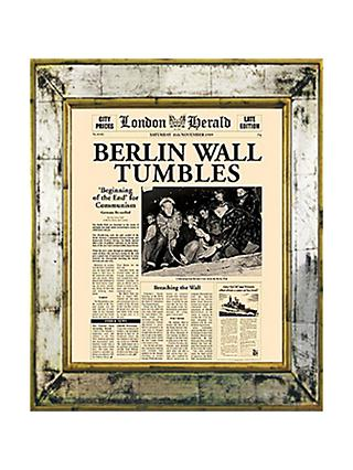 Brookpace, The Versailles Collection - Berlin Wall Tumbles Framed Print, 55 x 45cm