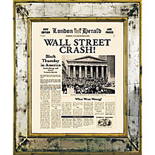 Buy Brookpace, The Versailles Collection - Wall Street Crash Framed Print, 55 x 45cm Online at johnlewis.com