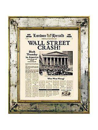 Brookpace, The Versailles Collection - Wall Street Crash Framed Print, 55 x 45cm