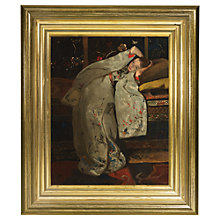 Buy Rijksmuseum, George Hendrik Breitner - Girl in White Kimono Framed Print, 34 x 29cm Online at johnlewis.com