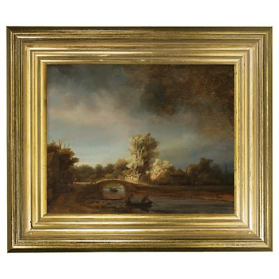Rijksmuseum, Rembrandt Harmensz. van Rijn – The Stone Bridge Framed Print, 29 x 34cm