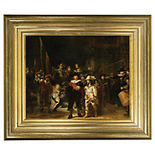 Buy Rijksmuseum, Rembrandt Harmensz. van Rijn - The Night Watch Framed Print, 29 x 34cm Online at johnlewis.com