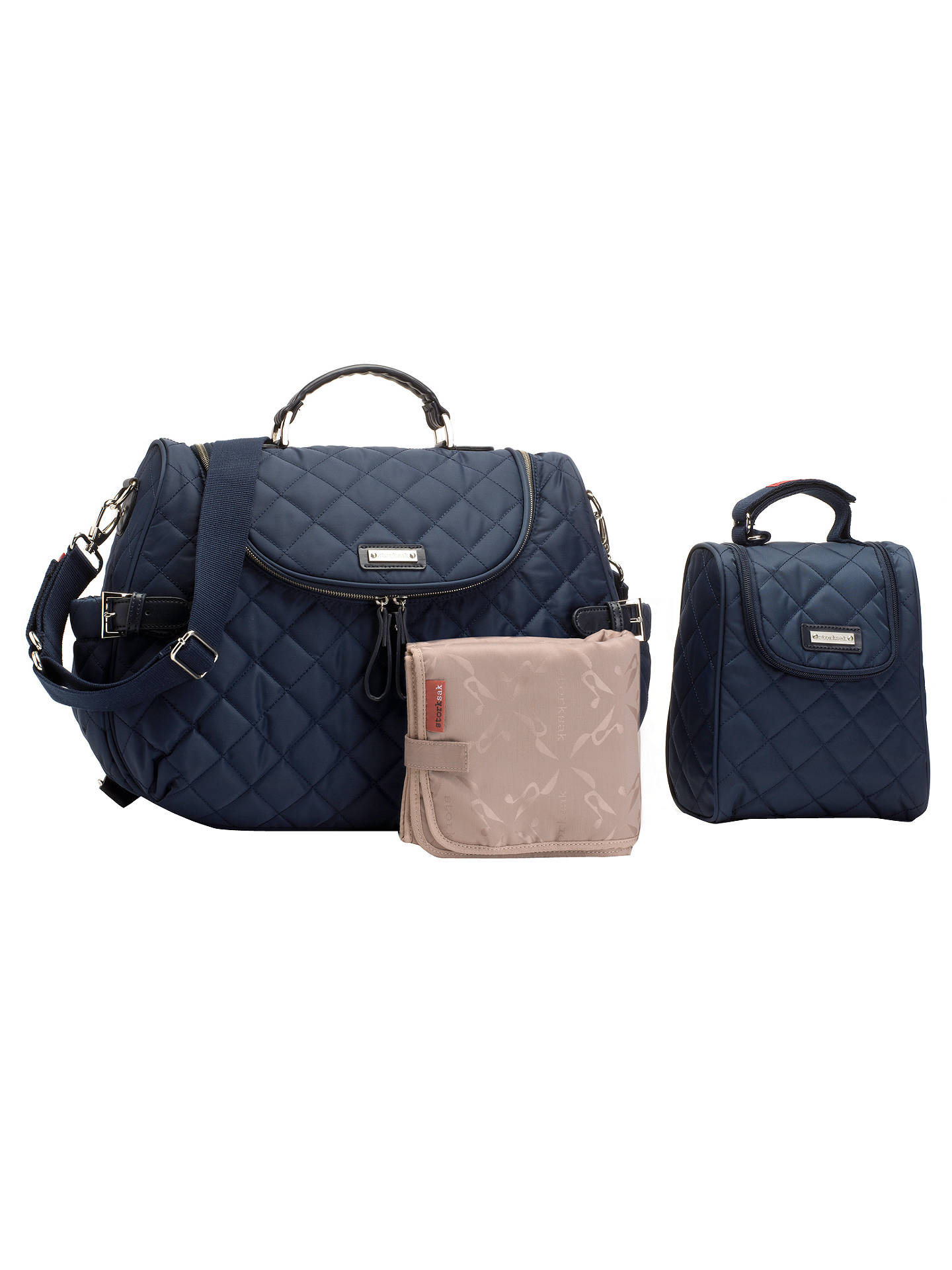 Storksak Poppy Changing Bag Navy At John Lewis Amp Partners
