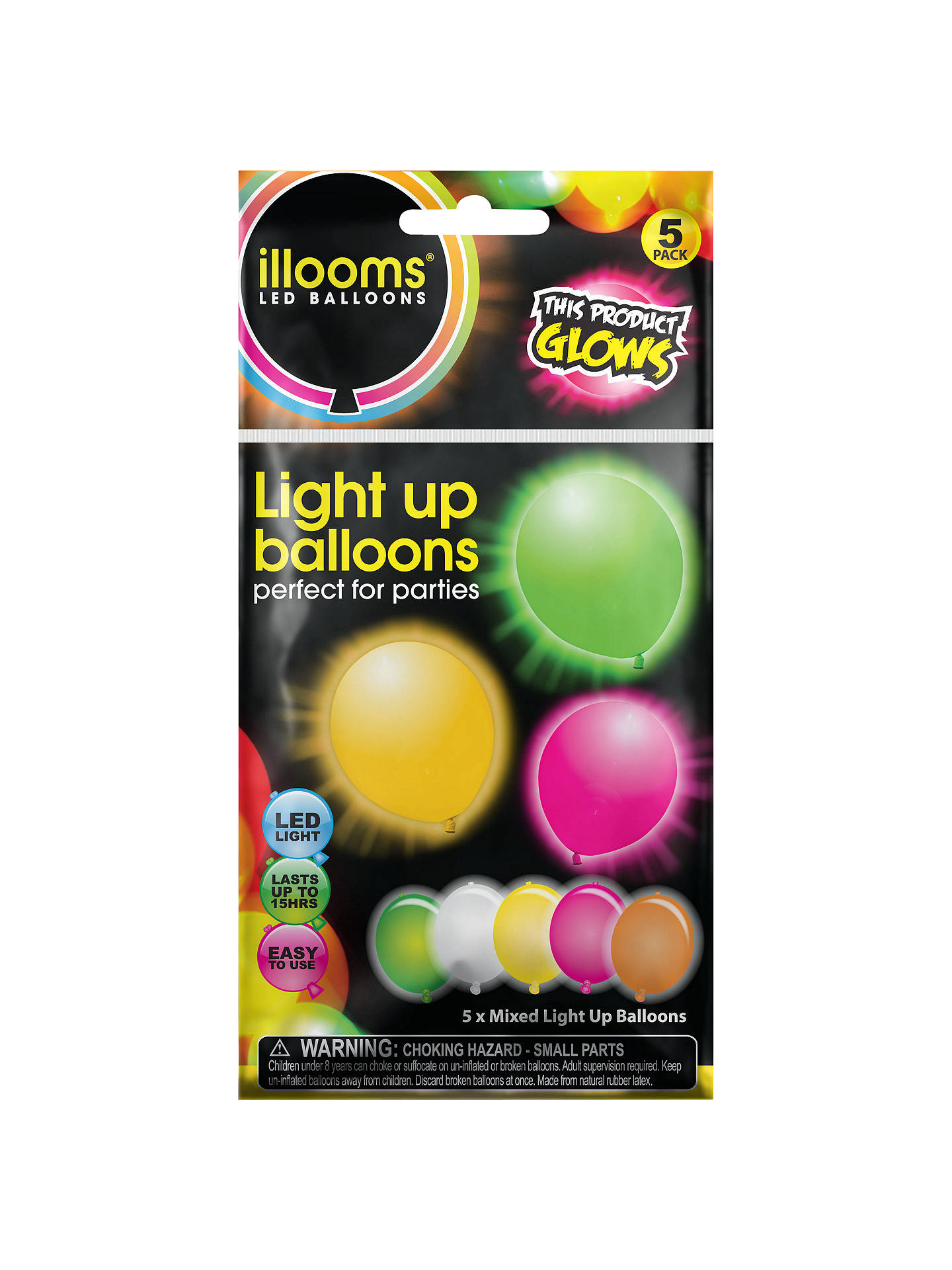 Buyilloom Balloons Led Balloon Mix Pack Of 5 Online At Johnlewis Com