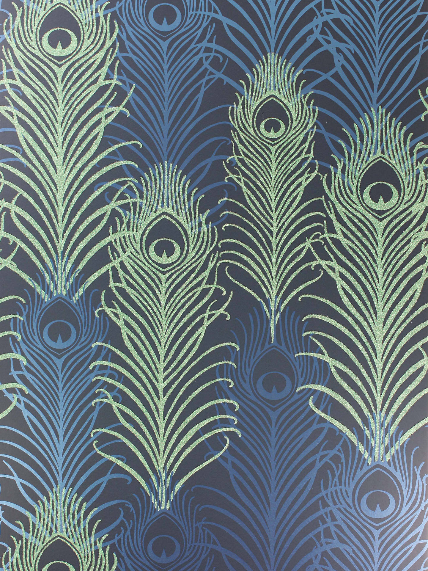 Buy Matthew Williamson Peacock Wallpaper, Jade / Metallic Cobalt, W6541-01 Online at johnlewis.com