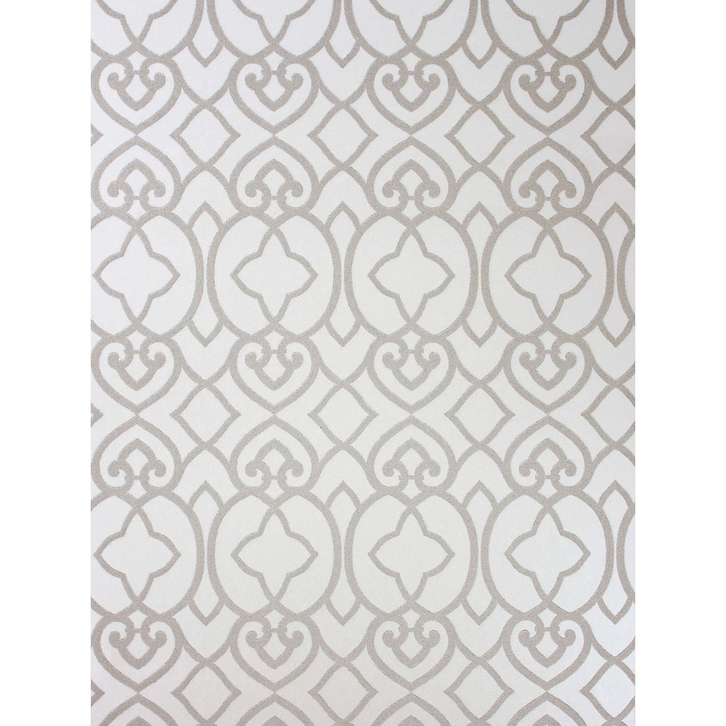 BuyMatthew Williamson Imperial Lattice Wallpaper, Ivory / Mica, W6546-01 Online at johnlewis.com
