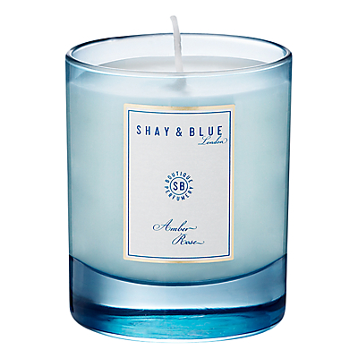 Shay & Blue Amber Rose Natural Scented Wax Candle 140g