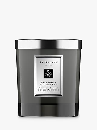 Jo Malone London Intense Dark Amber & Ginger Lily Home Scented Candle, 200g