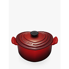 Buy Le Creuset Cast Iron Heart Casserole, Cerise Online at johnlewis.com