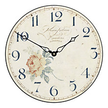 Buy Lascelles Angel Wall Clock, Cream, Dia.36cm Online at johnlewis.com