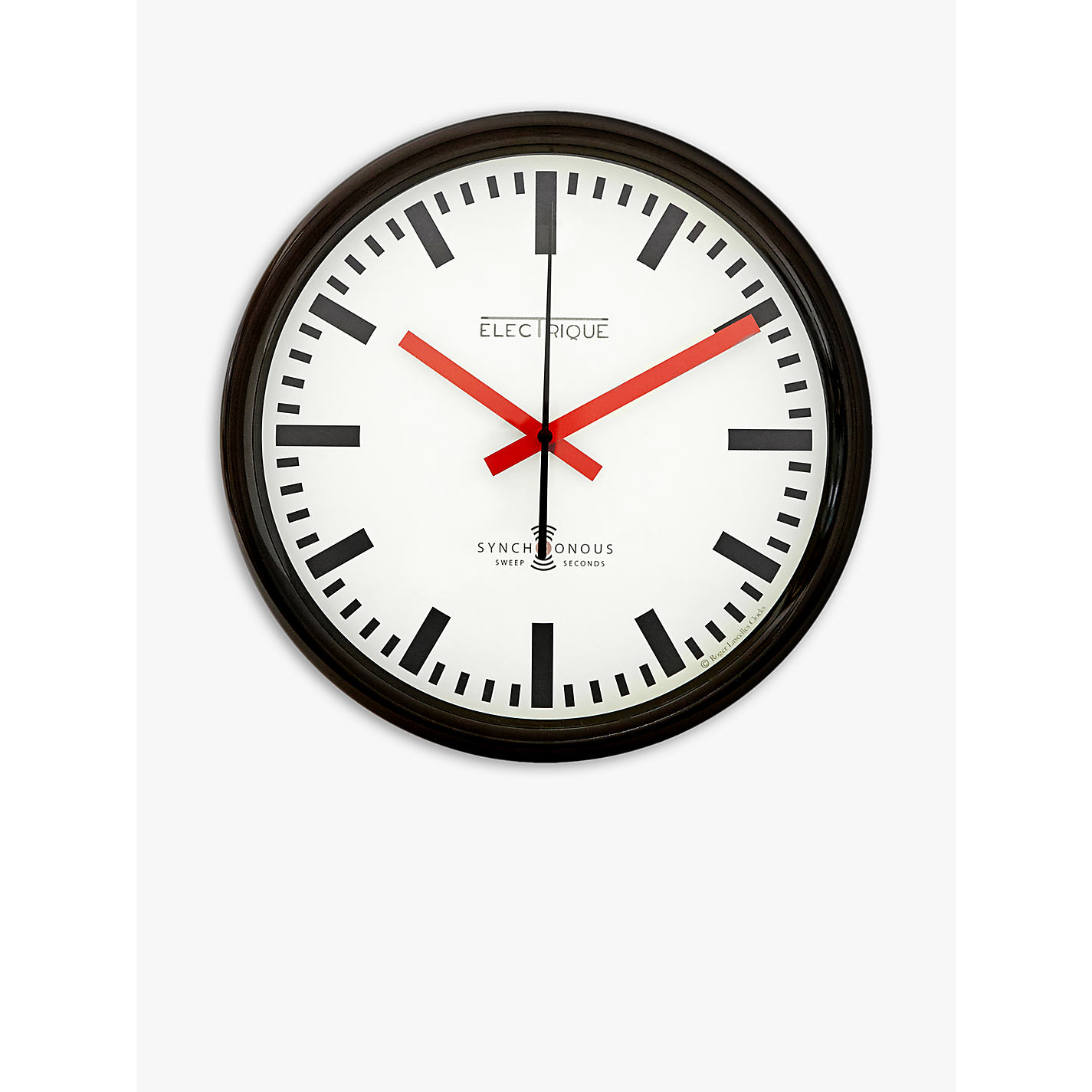 Wall clocks john lewis buy lascelles swiss station wall clock cream dia30cm online at johnlewis amipublicfo Image collections