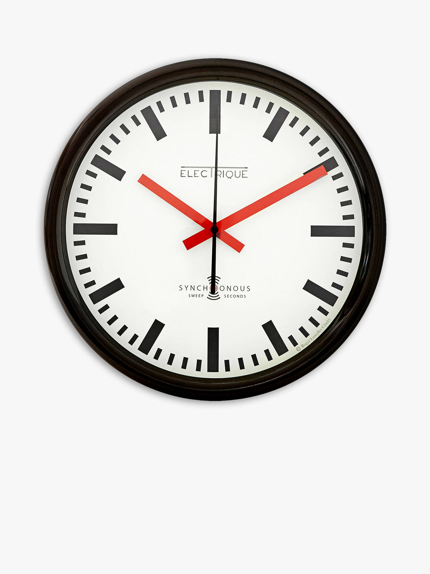 Lascelles Swiss Station Wall Clock Dia 30cm White At