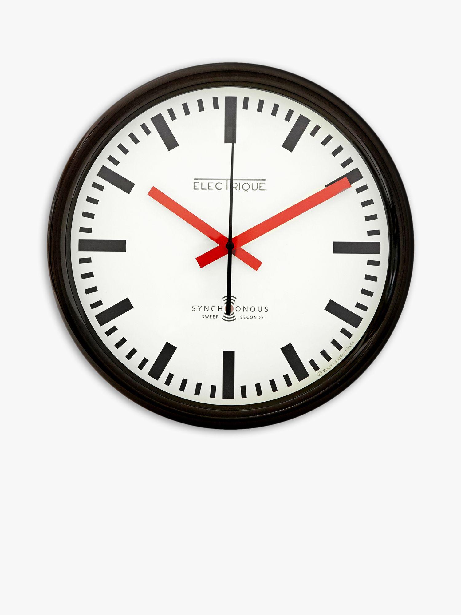 Lascelles Lascelles Swiss Station Wall Clock, Dia.30cm, White