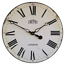 Buy Lascelles Smith Wall Clock, Dia.50cm Online at johnlewis.com