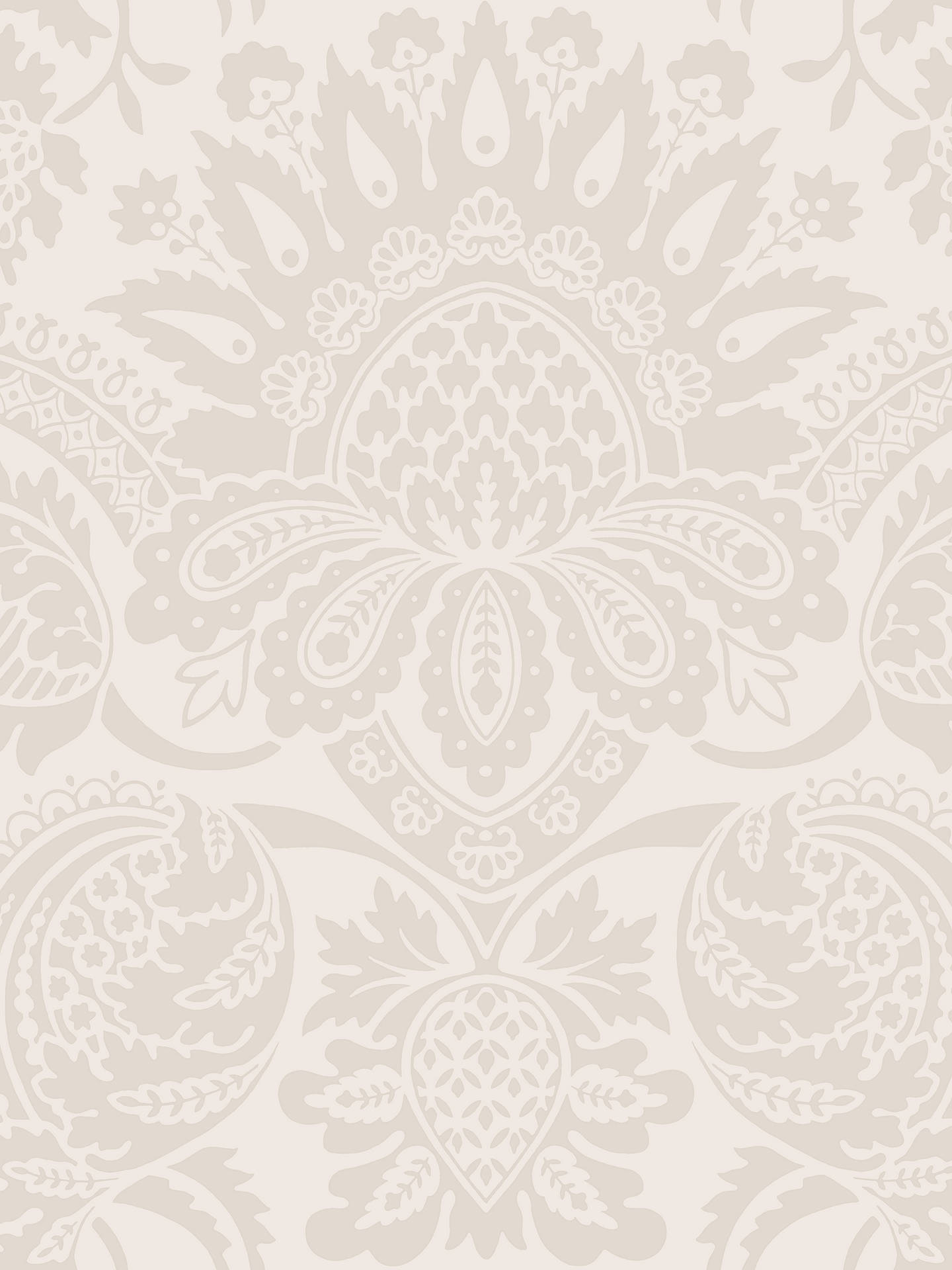 Buy Cole & Son Dukes Damask Wallpaper, Stone, 98/2005 Online at johnlewis.com