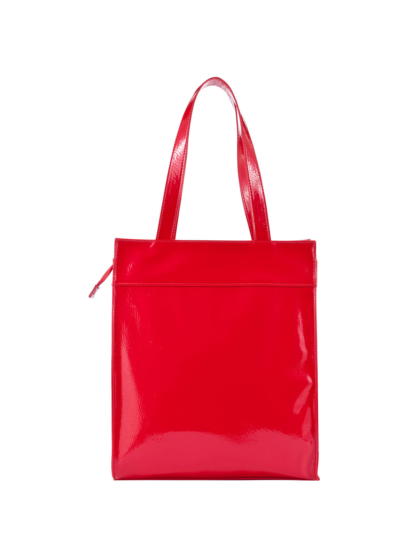 Buy John Lewis Shapes Zippy Tote Bag, Red Online at johnlewis.com