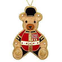 Buy Tinker Tailor Tourism Union Jack Teddy Tree Decoration Online at johnlewis.com