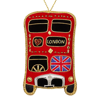 Image of Tinker Tailor Tourism Union Jack London Bus Hanging Decoration