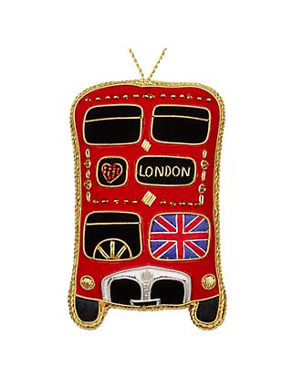 Tinker Tailor Tourism Union Jack London Bus Hanging Decoration