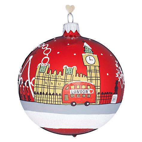 Buy bombki tourism london sky glass hanging decoration John lewis christmas ornaments