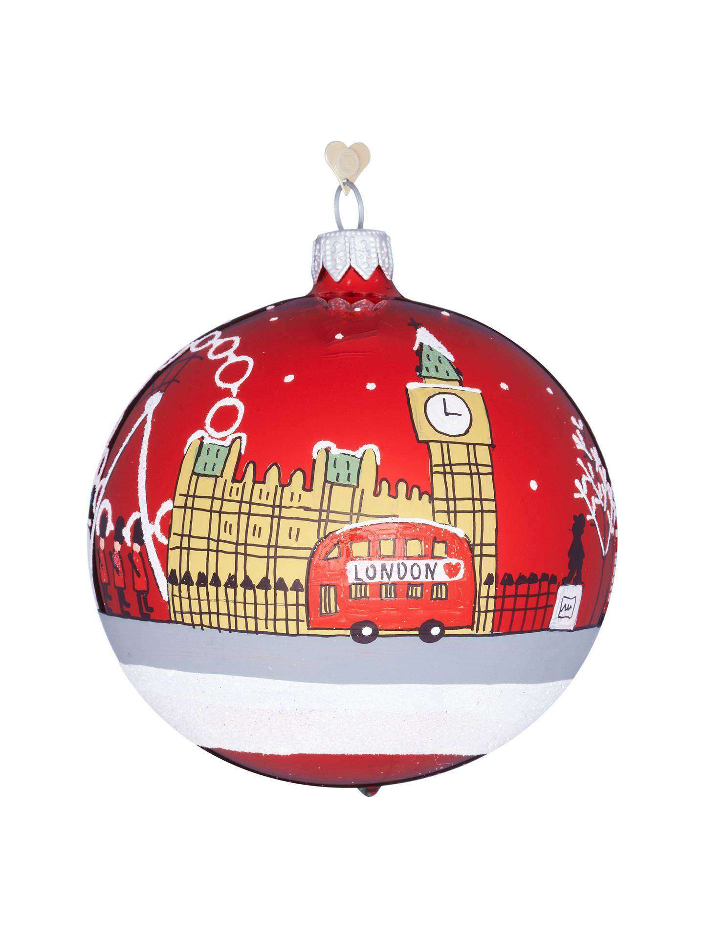 buybombki tourism london sky glass hanging decoration online at johnlewiscom