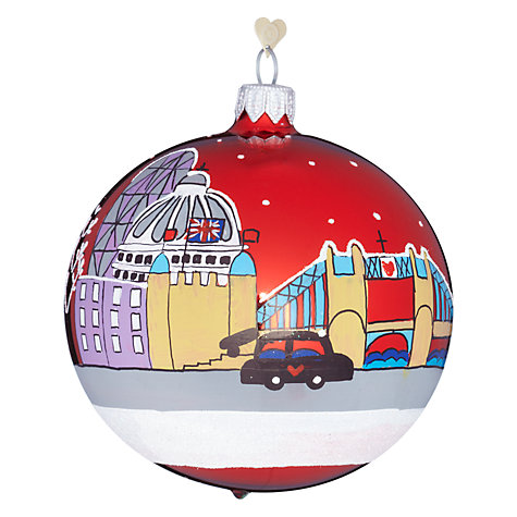 Buy Bombki Tourism London Sky Glass Hanging Decoration Online at johnlewis.com
