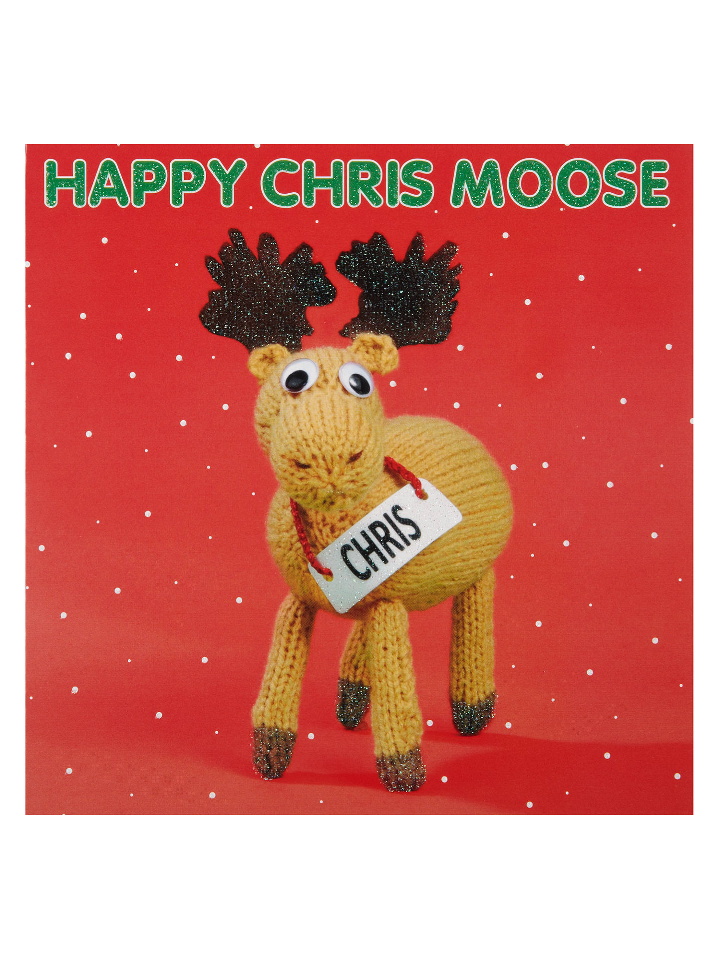 Mint Chris Moose Charity Christmas Cards, Box of 5 at John Lewis ...