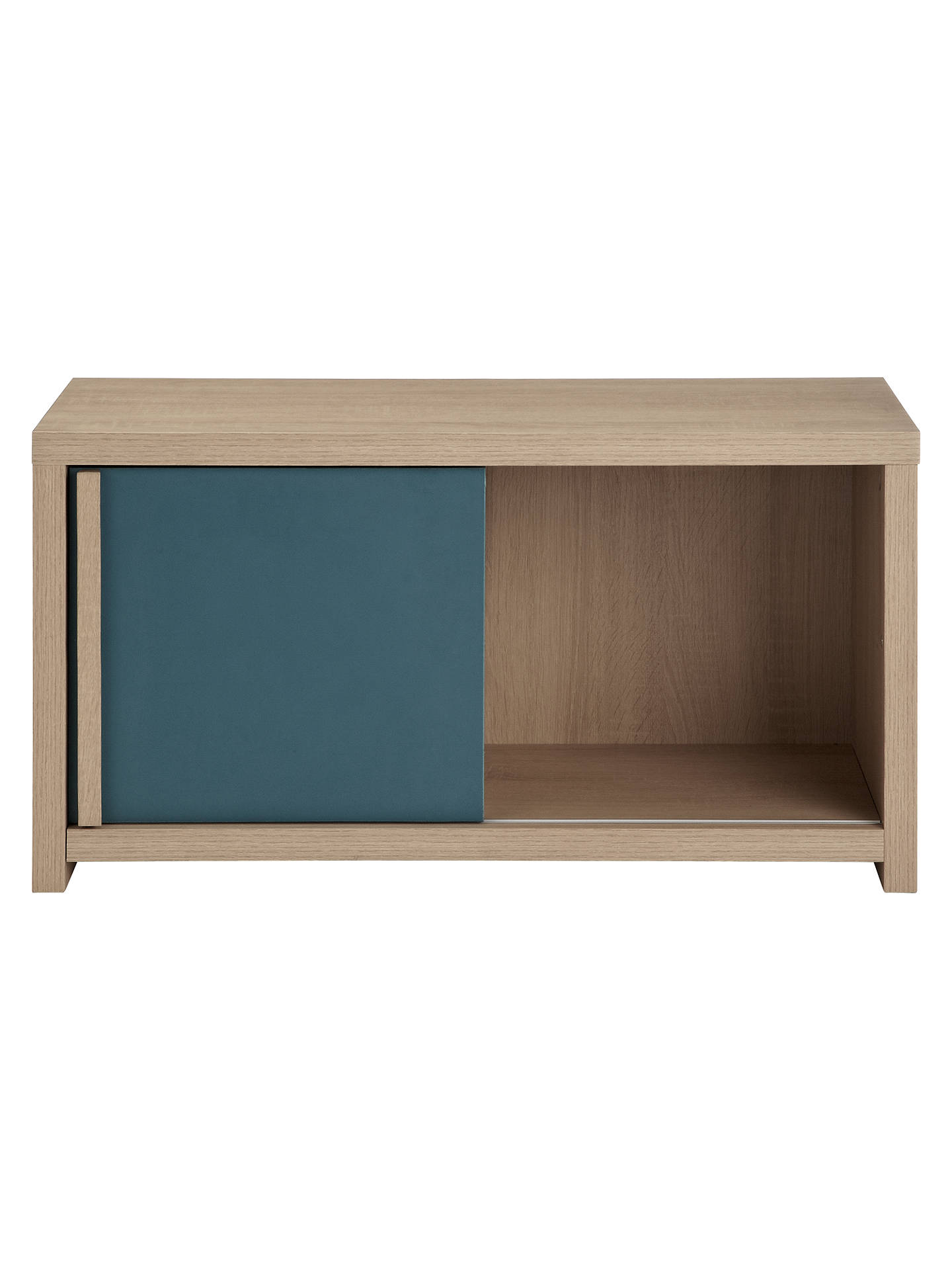 Buy House by John Lewis Porto Storage Bench, Oak/Teal Online at johnlewis.com
