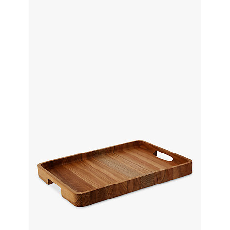Buy John Lewis Large Rectangle Wood Tray Online at johnlewis.com