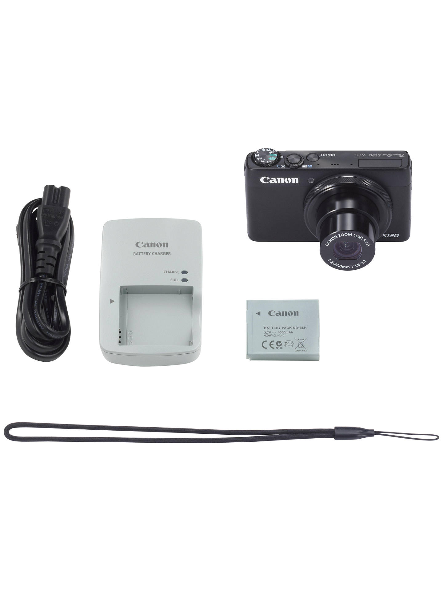 Canon Powershot S120 Digital Camera Hd 1080p 12 1mp 5x Optical Zoom Wi Fi Gps 3 Touch Screen At John Lewis Partners