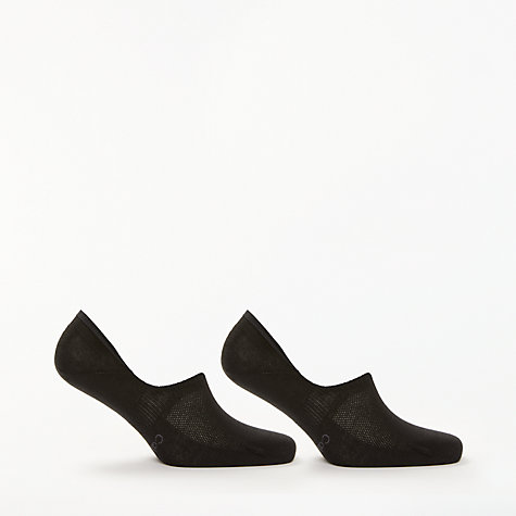 Buy Calvin Klein Cotton Shoe Liners, Pack of 2, One Size, Black Online at johnlewis.com