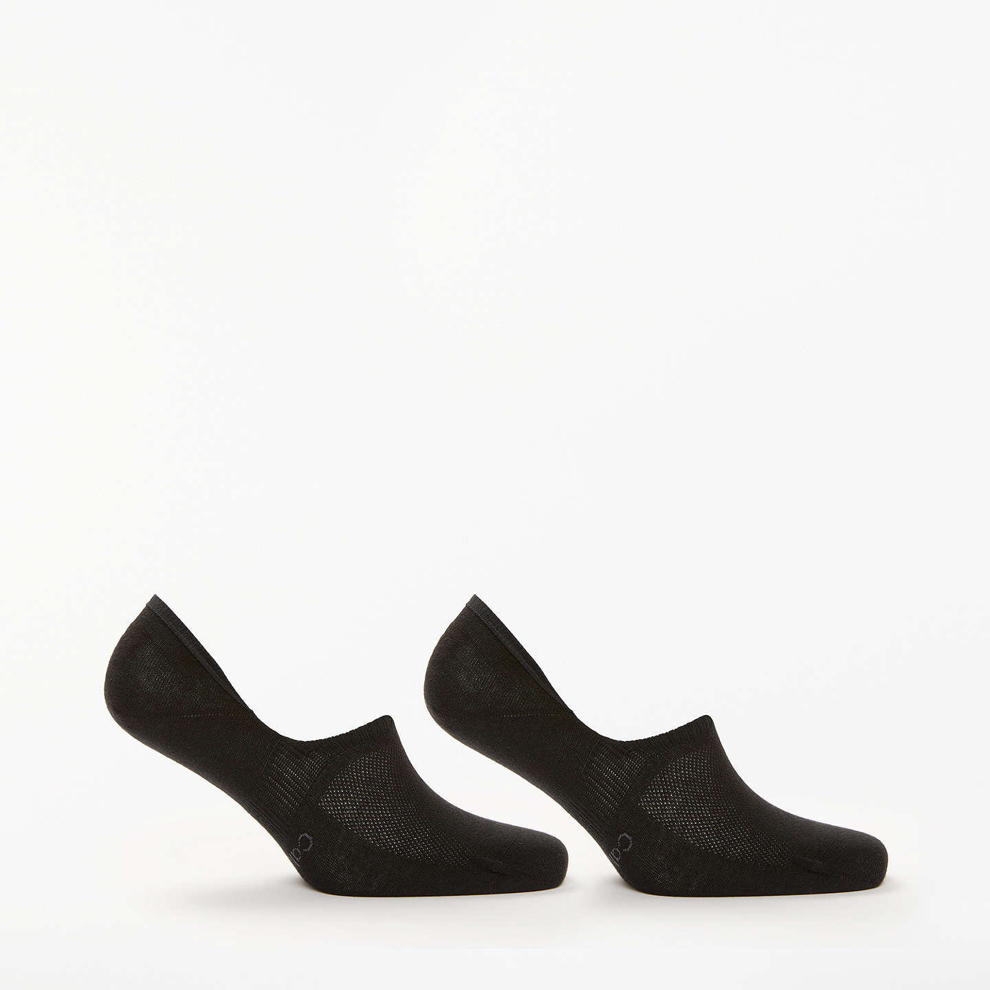 BuyCalvin Klein Cotton Shoe Liners, Pack of 2, One Size, Black Online at johnlewis.com