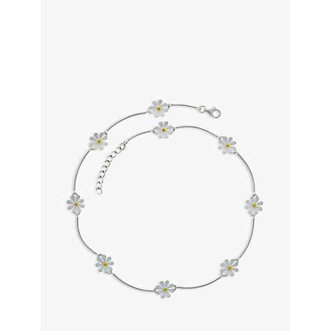 Buy Nina B Petal Sterling Silver And Gold Plated Necklace Online at johnlewis.com