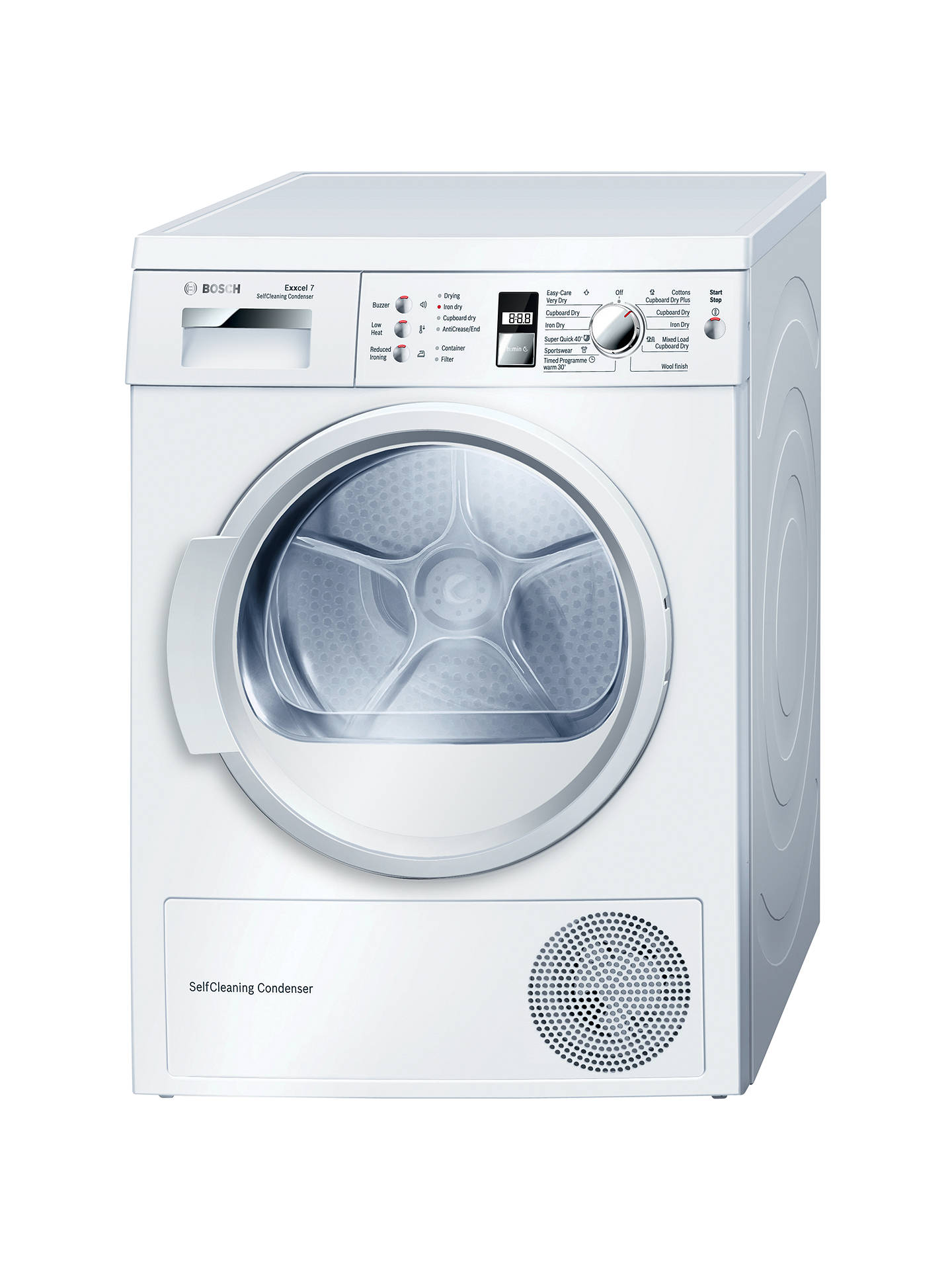 bosch wtw863s1gb sensor heat pump condenser tumble dryer 7kg load rh johnlewis com Bosch Clothes Washers Bosch Stacked Washer and Dryer
