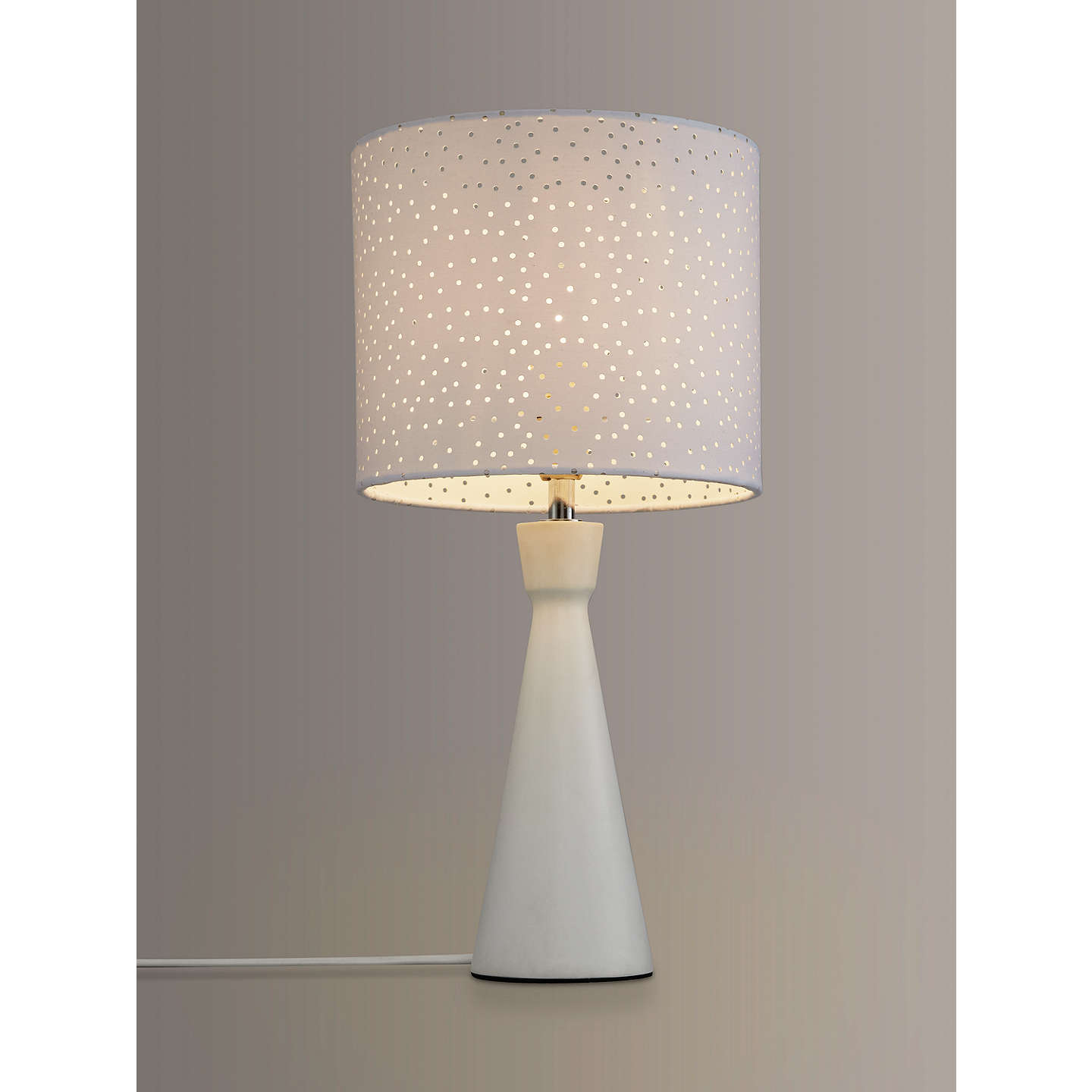 BuyJohn Lewis Alice Starry Sky Touch Table Lamp, White Online at johnlewis.com