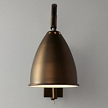 Buy John Lewis Chelsea Adjustable Wall Light, Bronze Online at johnlewis.com