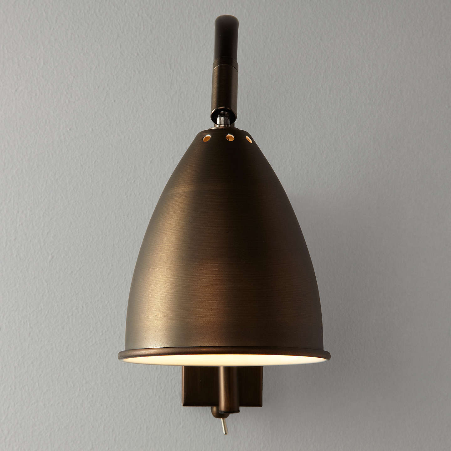 BuyJohn Lewis Chelsea Adjustable Wall Light, Bronze Online At Johnlewis.com  ...