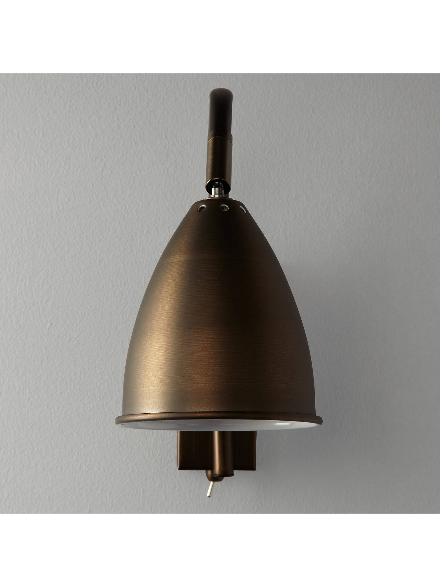 BuyJohn Lewis & Partners Chelsea Adjustable Wall Light, Bronze Online at johnlewis.com