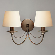 Buy John Lewis Mariana Fabric Shade Wall Light, 2 Arm Online at johnlewis.com