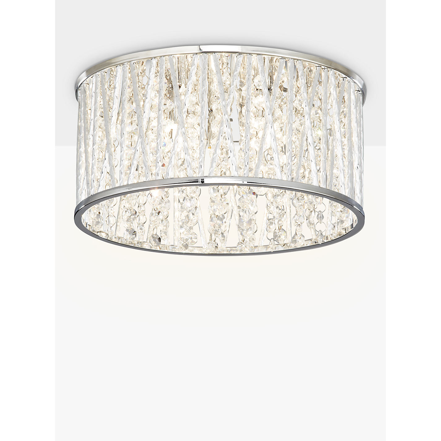 Buy john lewis emilia crystal drum flush ceiling light john lewis buy john lewis emilia crystal drum flush ceiling light online at johnlewis aloadofball