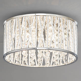 Crystal ceiling lighting john lewis john lewis emilia crystal drum flush ceiling light mozeypictures Choice Image