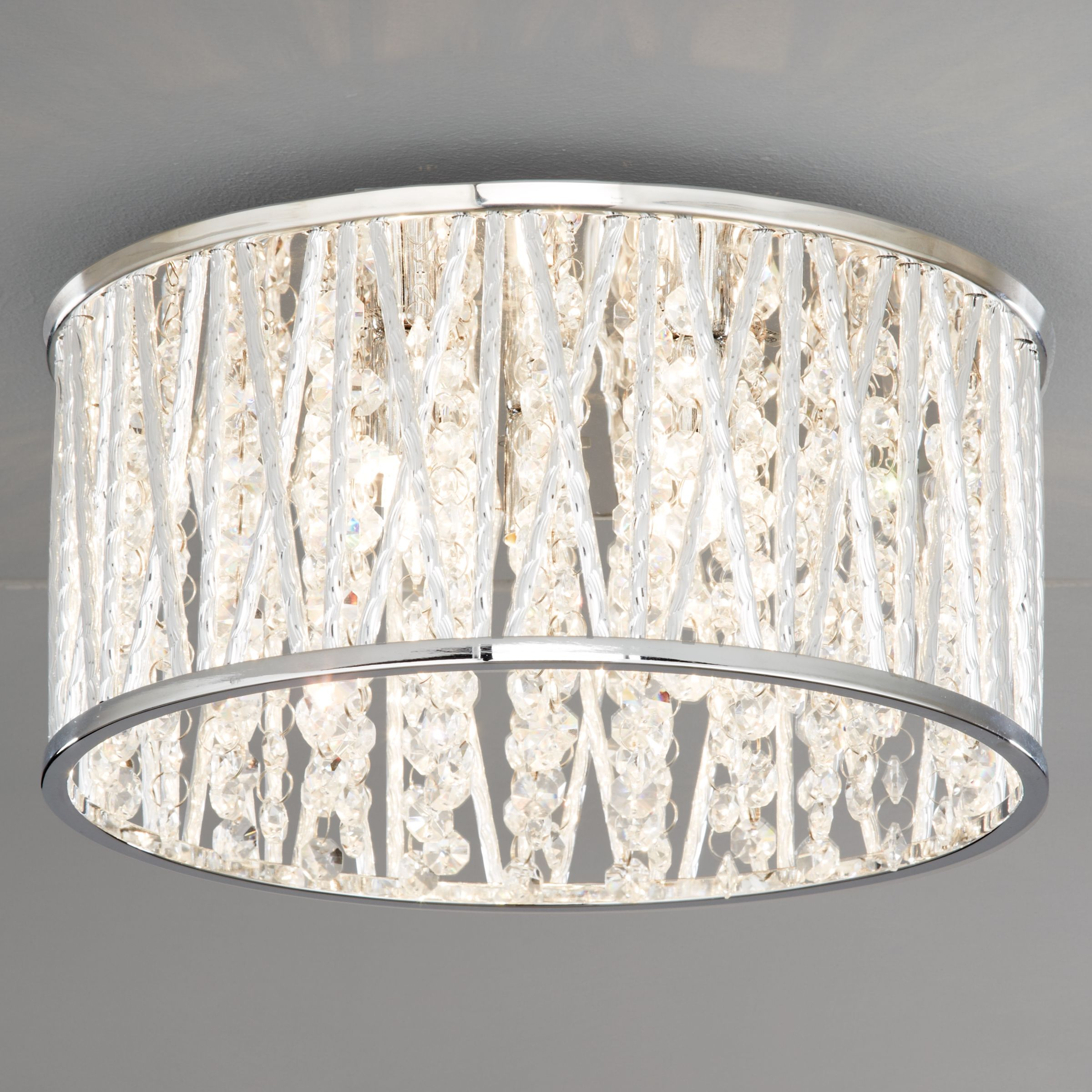 Ceiling Light Fittings At John Lewis : John lewis emilia crystal drum flush ceiling light